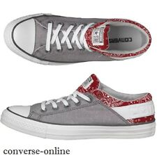 Men's CONVERSE All Star BAND OX GREY RED Trainers Shoes Sneakers EU 40 SIZE UK 7