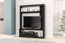 Birlea Tempo TV Stand Entertainment Unit Wall Cabinet Cupboard Black Gloss