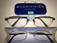 1~Half Frame Reading Glasses by Magnivision & 1~ Metal Reader Men&Women Readers!