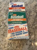 1986,1987,1988 Fleer Update Complete Sets-Stickers Bonds, McGwire, Maddux (RCs)