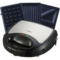 Ovente Waffle Maker with Non-Stick Waffle Grill Plates - BLACK (OVERSTOCK SALES)