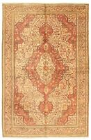 "Hand-knotted Turkish Carpet 6'6"" x 10'2"" Hereke Traditional Wool Rug"