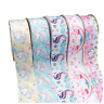 "2yards 3"" 75mm Unicorn Printed Grosgrain Ribbon for DIY Hairbows Accessories"