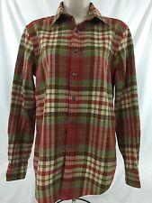 Ralph Lauren Women's Light Flanel Plaid Button Down Shirt Size 4