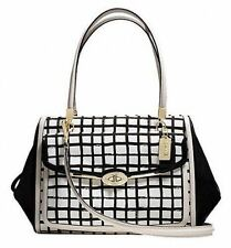 New With Tag COACH Madison Graphic Print Madeline Satchel Bag- 28082 Black/White