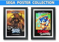 Sonic The Hedgehog, Altered Beast, Game Posters (2) 13x19 4K Reproductions