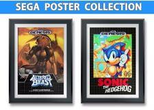 Sonic The Hedgehog, Altered Beast, x2 Sega Posters 13x19 W/FoamBoard