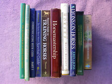 Lot of 8 Horse Books & 2 Videos Training Horsemastership Riding Jumping Handling