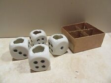 New ListingVintage Dice Ashtrays Individual Card Table Set Unused in Original Box