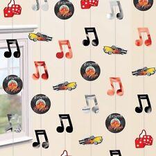 1950 Rock Roll Stringa Appeso Decorazioni anni'50 Festa di Compleanno Note Musicali