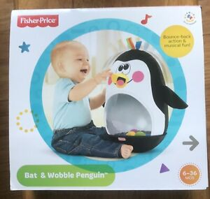 Fisher Price Go Baby Go Bat & Wobble Penguin Sounds & Music New! Tested! Works!