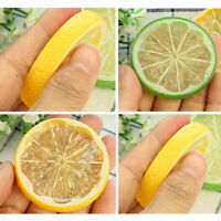 10pcs Fake Lemon Slice Foam Artificial Fruit Simulation Lifelike Model for Home