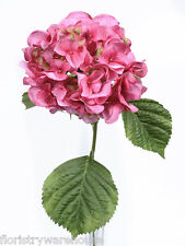 Artificial Silk Pink Giant Hydrangea 70cm Single Stem Wedding Flowers