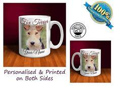 Fox Terrier Personalised Ceramic Mug: Perfect Gift. (D028)