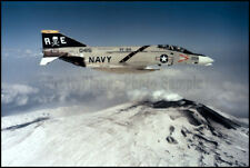 USN F-4 Phantom VF-84 Jolly Rogers Mt Aetna Italy 1975 8x12 Photo