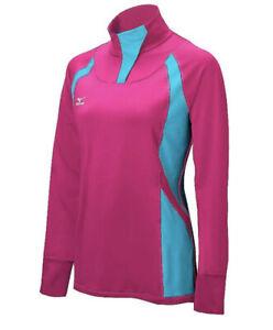 Mizuno Women's Nine Collection: Drive 1/2 Zip Volleyball Jacket Pink Blue XS