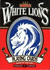 David Blaine Stealth White Lions Deck Ultra Rare Gaff Playing Cards