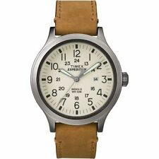 "Timex TW4B06500, Men's ""Expedition"" Brown Leather Watch, Scout, TW4B065009J"