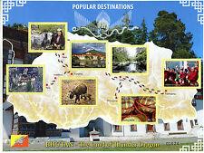 Bhutan 2016 MNH Popular Destinations Land of Thunder Dragon 7v MS Tourism Stamps