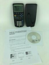 Texas Instruments Ti-83 Plus Graphing Calculator Black With Cover & Guide on Cd