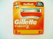 GILLETTE FUSION5 BLADES 8 BLADES IN TOTAL NEW & SEALED 100% GENUINE NEW FREEPOST