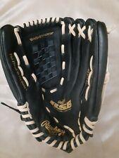 "NWOT Rawlings Leather Palm Black Gold Glove SS13W RSB Softball Series 13"""