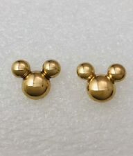 Disney Girls Lady Mickey Mouse Icon 1.5cm Gold Tone Earrings Ear Studs Brand New