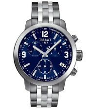 Tissot PRC 200 SWISS Quartz Chronograph Blue Dial Men's Watch T0554171104700