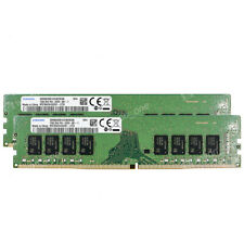 Samsung 32GB 2x16GB 2Rx8 PC4-2666V-U DDR4 2666Mhz PC4-21300 288pin UDIMM Memory