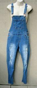 TEMT light blue denim BNWOT bib & brace skinny leg dungarees overalls size 8