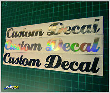x2 Custom Personalized Sticker Decal Your Text Carbon,Chrome,Hologram Chrome