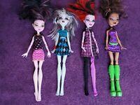 Lot Of Monster High Dolls (Lot Of 4) Clawdeen Frankie Steen Draculaura Operetta