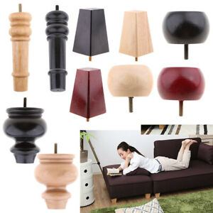 Unfinished Solid Wood Sofa Chair Couch Furniture Legs Wooden Cabinet Plinth Leg
