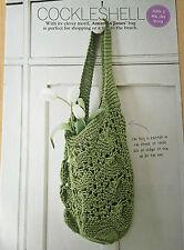 KNITTING PATTERN Ladies Lace Design Shopper Bag Handbag Lion Brand PATTERN