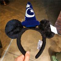 Disney Parks Mickey Mouse Fantasia Sorcerers Ears Apprentice Magic Wiza Headband
