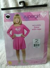 GIRLS YOUTH SUPERGIRL HALLOWEEN COSTUME SIZE SMALL 4-6 FOR 3-4 YEARS OLD NEW