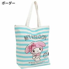 Sanrio My Melody Canvas Tote Bag/Boader Pattern/School,Mother Bag/Leisure/New