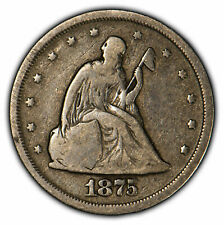 1875-S 20c Seated Liberty Twenty-Cent Piece - Mid-Grade Coin - SKU-X1142