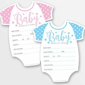 10 x Baby Shower Games Prediction & Advice Cards ~ Boy / Girl / Unisex