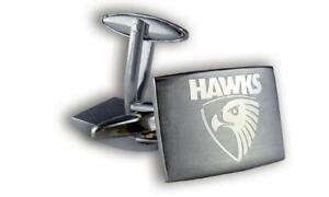 NEW Hawthorn Hawks AFL Cufflinks Silver
