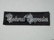 NOCTURNAL DEPRESSION BLACK METAL EMBROIDERED PATCH