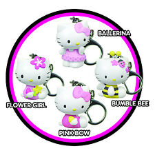 Hello Kitty Mini Keychain Keyring Sanrio Pink Bow Flower Girl Ballerina Bee New