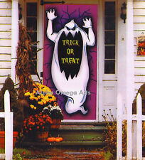 6-Ft. Horror Ghost Silhouette Wall Door Table Cover Halloween Decor