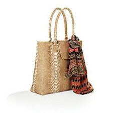 """Faux Snakeskin Purse/Tote (14""""hX15""""wX3""""d) with Coordinating Scarf, New!"""