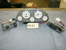 Brushed Gray Dash Panel SET with Gauges & Switches.  lot G-2-1