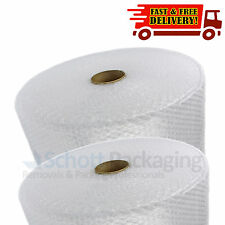 2 Rolls of 500mm X 100m Quality Small Bubble Wrap Cushion Cheap - Fast Delivery