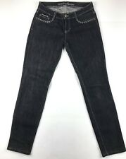 Guess by Marciano Dark Wash Jeans-26 Chic, Black leather patch