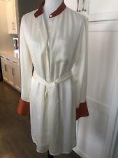 Womens Ivory EQUIPMENT Brand Silk Tunic~size Large