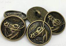 5 Horse Design Métal Tige Bronze BOUTONS 15 mm Blazer Manteau Sewing Crafts