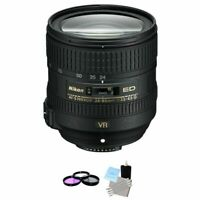 Nikon AF-S NIKKOR 24-85mm f/3.5-4.5G ED VR Lens + UV Kit & Cleaning Kit